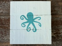 Wooden Octopus Wall Art - hand crafted handmade upcycled ...