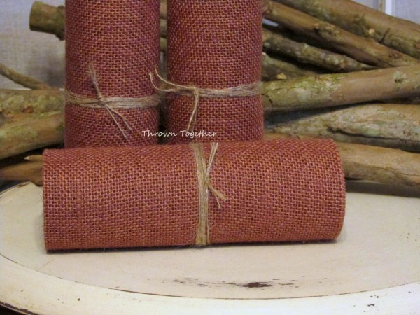 Burlap Ribbon Fall Decor Terra Cotta