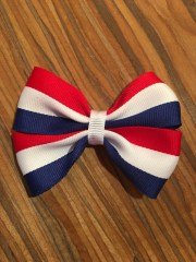 red white and blue hair bow toddler