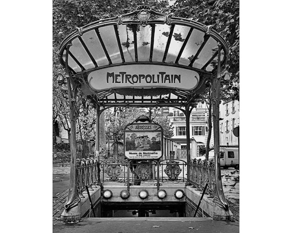Paris Metro Abbesses Station Black