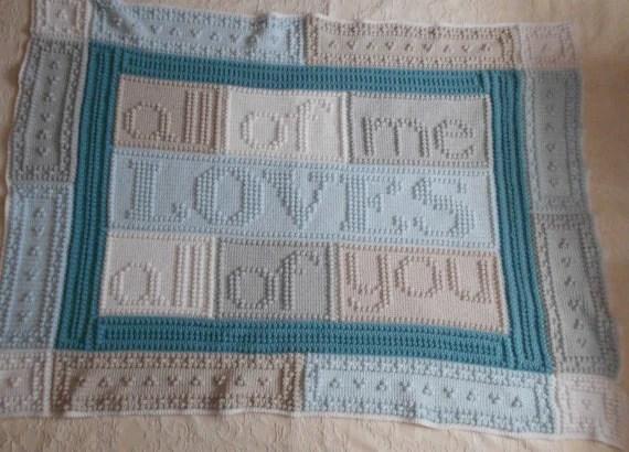 LOVES pattern for crocheted blanket