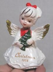 vintage christmas angel holding