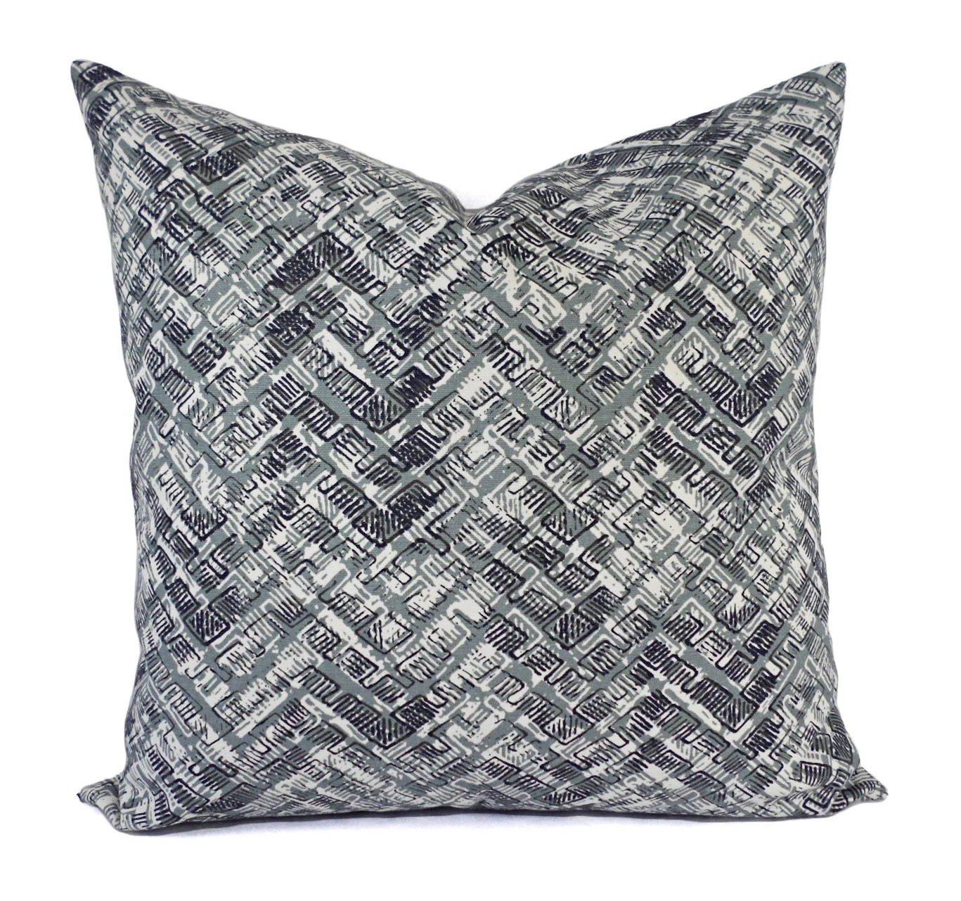 Two Pillow Covers Grey and Brown Throw Pillows Modern