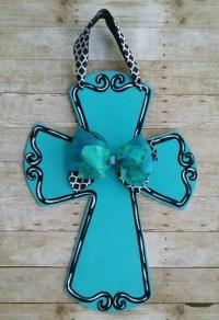 Cross door hanger door decoration monogrammed cross