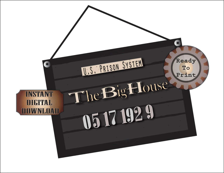 Mug Shot Printable S Police Line Up Sign The Big House