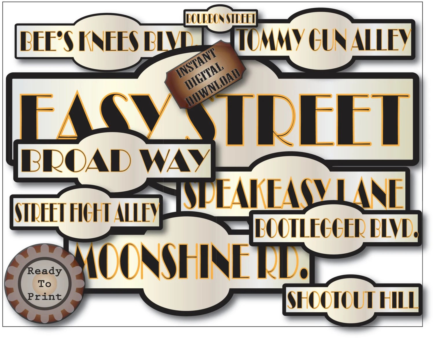 Prohibition Street Signs Printable Set Of 10 Life Sized Road