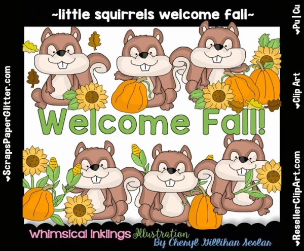 little squirrels fall clip