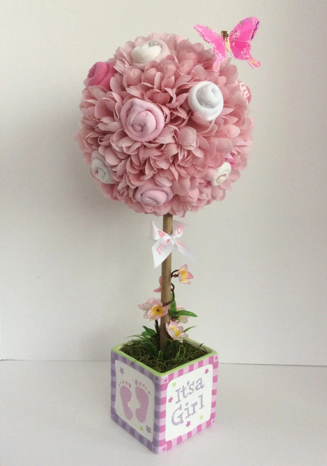 Baby Girl Topiary Baby Shower Centerpiece Baby by