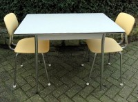Vintage Kitchen Table with Formica Tabletop and Chrome Legs