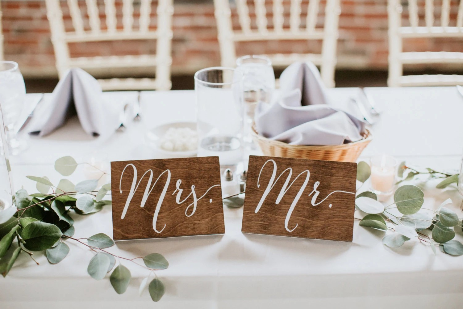 mr and mrs chair signs upholstered counter height chairs with arms