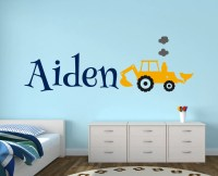 Construction Truck Wall Decal Name Wall Decal Boys Room