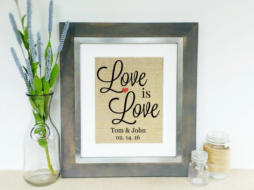 Personalized Wedding Gift Idea Gay Marriage Gift Ideas Same