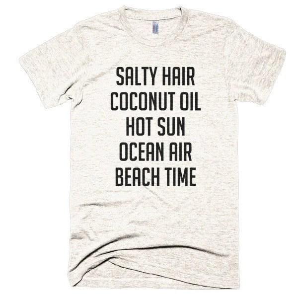 Salty Hair Coconut Oil Hot Sun Ocean Air Beach by spiritwildTs