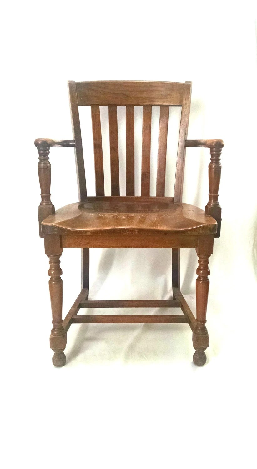 Antique Vintage Wood Arm Chair by TarnishedHaloCrew on Etsy