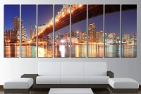 8 Panels Canvas Wall Art Set New York Skyline New York Canvas