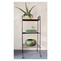 mid century side table black wire end table bookshelf