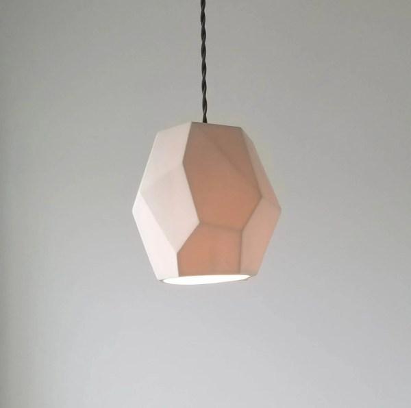 Geometric Porcelain Pendant Light Modern Lighting