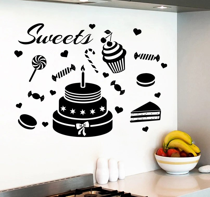 Wall Decals Sweets Cupcake Candy Decal Vinyl Sticker by