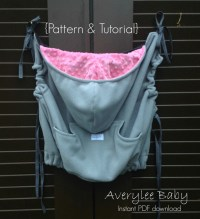 INSTANT DOWNLOAD Pattern & Tutorial Contoured Babywearing