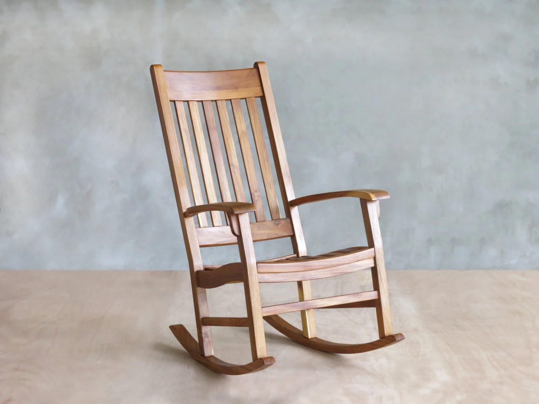 indoor rocking chair animal teak or ipe outdoor patio deck