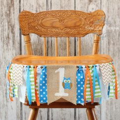 Graco Blue Owl High Chair How To Measure A For Slipcover Woodland Burlap Banner Orange And Look