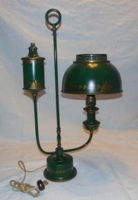 Vintage Toleware Table Lamp/ Student/ Desk. by RandJs on Etsy