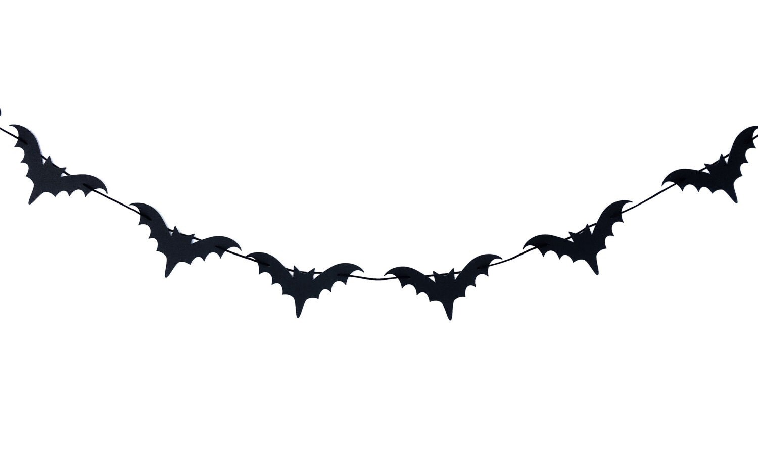 Black Bat Garland Black Bat Banner Bat Garland Halloween
