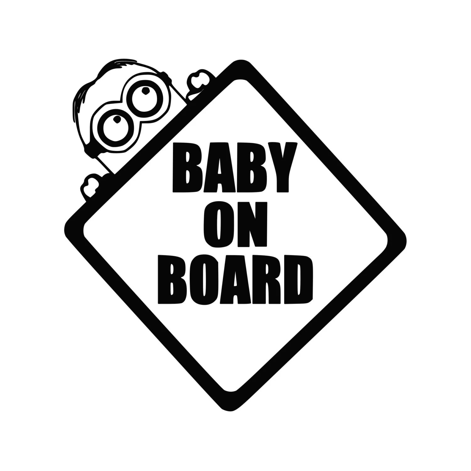 Baby Minion on Board Funny Vinyl Decal 0023