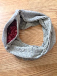 Infinity Scarf with Hidden Zipper Pocket by HarpinJay on Etsy