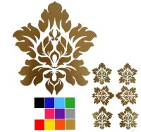 Damask Removable Wall Decal x 6. Damask Stickers. Glitter