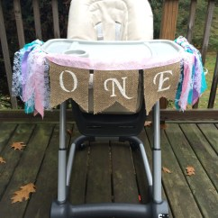 High Chair Girl 4 Dining Table Designs Banner First Birthday One Year Old