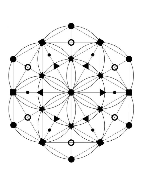37 Point Crystal Grid Printable at home Crystal Grid