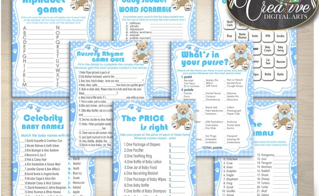 Baby Shower Games Printable Baby Shower Games Teddy Bear