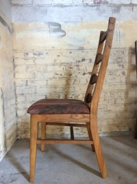 Four Mid Century Bow Tie Ladder Back Chairs by DareToBeVintage
