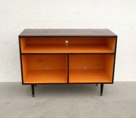 Mid Century Modern Record Cabinet TV Table Media Console w/