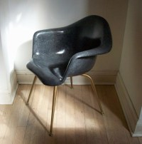 RESERVED flwj Vintage Chromcraft Fiberglass Shell Chair / Mid