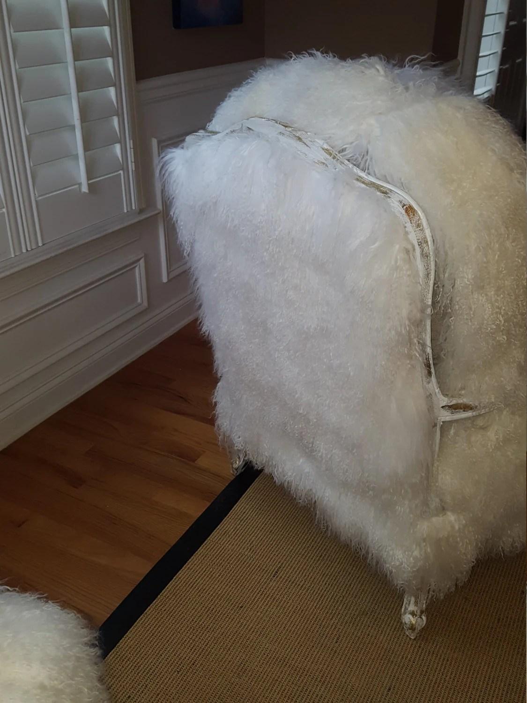 fur chair cover hawaiian swing mongolian lamb sheepskin only