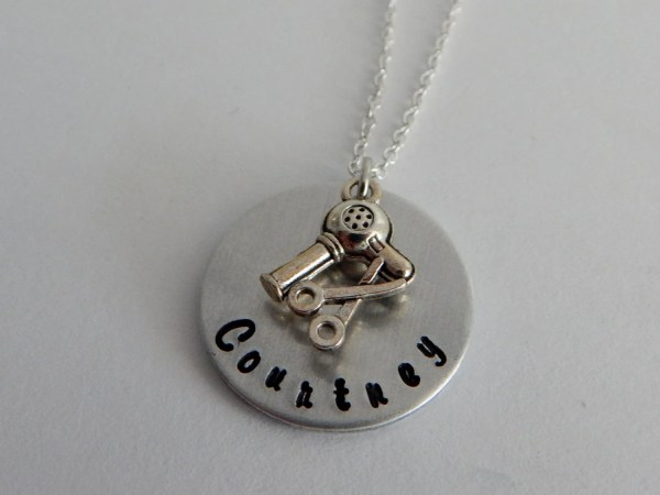 Hair Stylist Personalized Custom Hand Stamped
