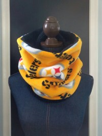Pittsburgh Steelers Cowl Scarf Fleece and Sherpa Lined Neck