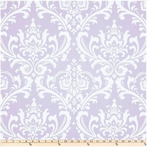 Ozborne Twill Wisteria White And Light Purple Home Decor