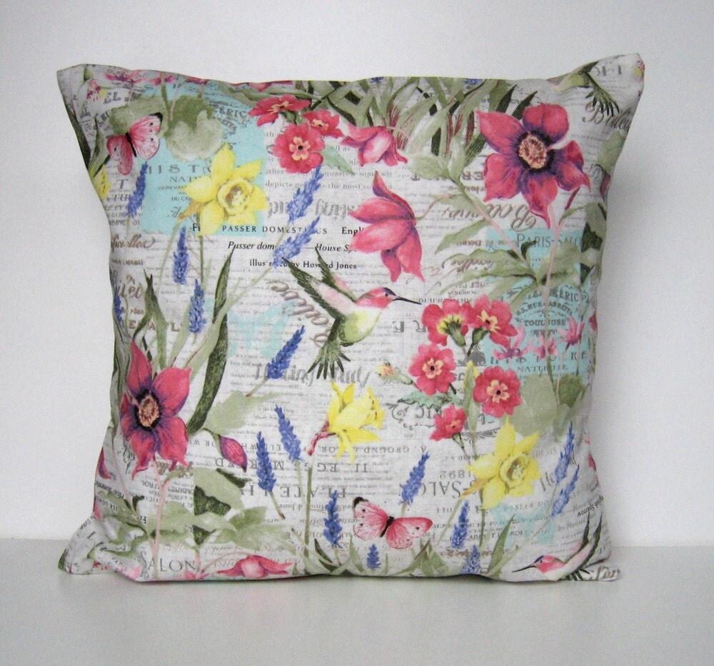 Spring Pillow Cover Floral Pillow Cover Throw Pillow