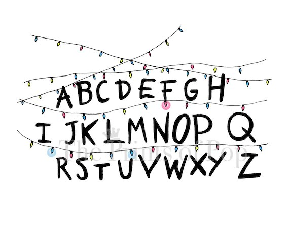 Stranger Things Christmas Lights Print FREE SHIPPING