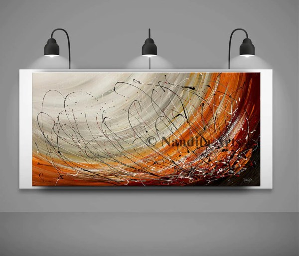 Large Wall Art Abstract Painting Acrylic Decor Red