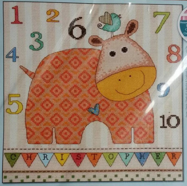 Dimensions Counted Cross Stitch Kit Baby Hippo 123