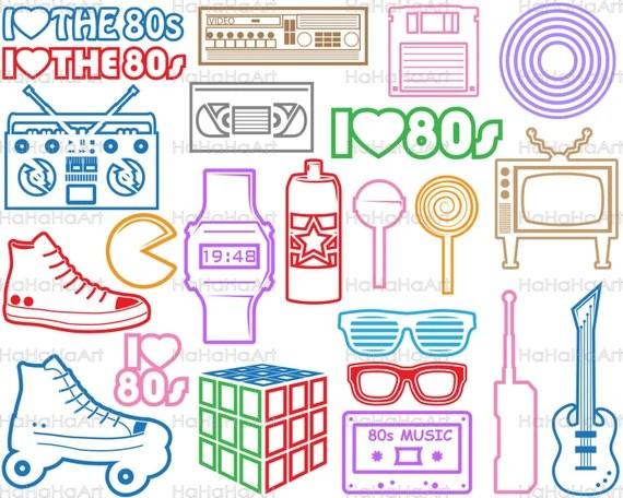 Download I Love The 80s V2 Monogram Color Cutting Files Svg Png Jpg