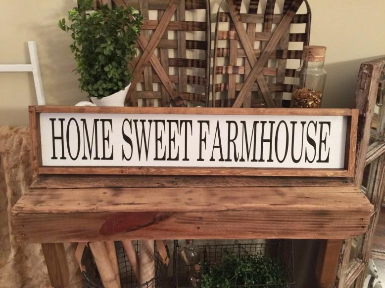 Home Sweet Farmhouse Wood...
