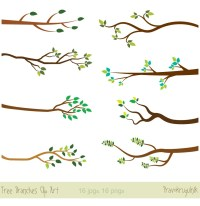 Tree branches clipart, Tree branch clip art, Bare branch ...