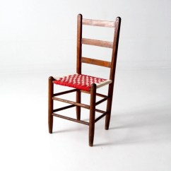 Antique Ladder Back Chairs Uk Spa Wholesale Ladderback Chair With Woven Cloth Seat Checker Accent