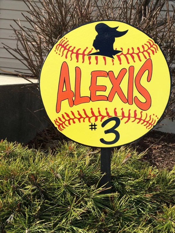 Softball Baseball Sports Yard Signs 16 Mounted