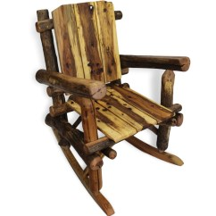 Rustic Rocking Chair Lazy Boy Recliner Covers Reclaimed Wood